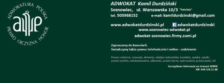 Adwokat Kamil Durdziński - Kancelaria Adwokacka Sosnowiec