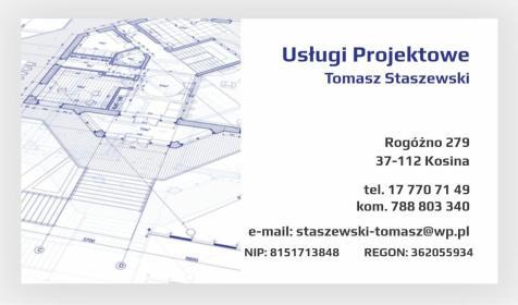 Usługi Projektowe Tomasz Staszewski - Rzeczoznawca budowlany Kosina