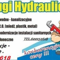 HYDRAULIK INSTALACJE. - Instalacje sanitarne Koszalin