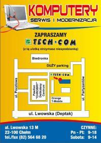 TECH-COM Computers NOWE i UŻYWANE, SERWIS i MODERNIZACJA - Firma IT Chełm