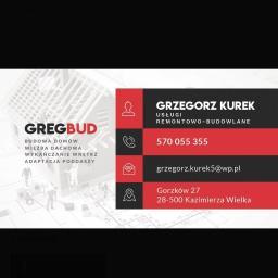 GregBud Grzegorz Kurek - Płyta karton gips Kazimierza Wielka