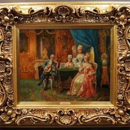 Pałacowy obraz salonowy koncert Stephan Sedlacek