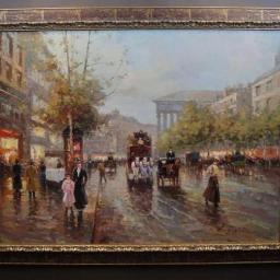 Liryczny Spacer w Paryżu Olbrzymi Obraz