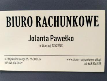 Biuro Rachunkowe Jolanta Pawełko - Usługi podatkowe Ełk