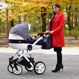 Wózek Castello Milu Kids, lekki aluminiowy stelaż bogata nowoczesna kolorystyka