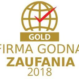 Otrzymane wyróżnienie - Firma Godna Zaufania GOLD 2018