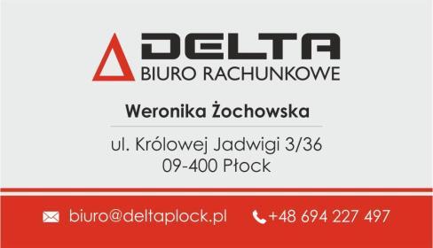 "Biuro Rachunkowe ""Delta"" Weronika Żochowska - Finanse Płock"