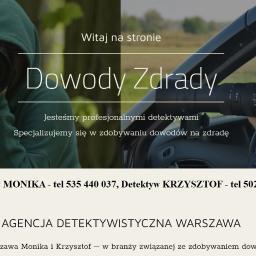 Detektywi Dowody Zdrady - Detektyw Warszawa