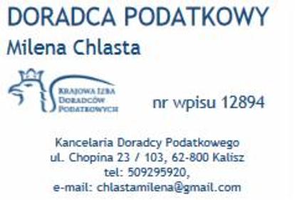 Kancelaria Doradcy Podatkowego Milena Chlasta - Audyt Księgowy Kalisz