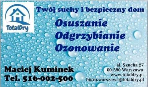 TOTALDRY MACIEJ KUMINEK - Osuszanie Wrocław
