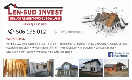 Len-Bud Invest Team Pomagamy Pomagać - Budowa domów Nowy Dwór Mazowiecki