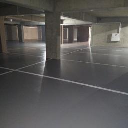 posadzka przemysłowa wykonana w parkingu podziemnym
