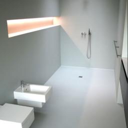 łazienka w systemie poliuretanowym bez fugowym