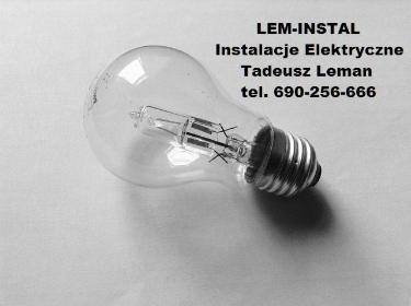 Lem-Instal Instalacje Elektryczne Tadeusz Leman - Usługi Elektryczne Miechucino