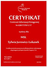 MSL SYLWIA JUROWICZ-LUKASEK - Biuro rachunkowe Góra
