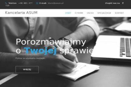 Kancelaria Prawno-Odszkodowawcza ASUM - Kancelaria prawna Strzelin