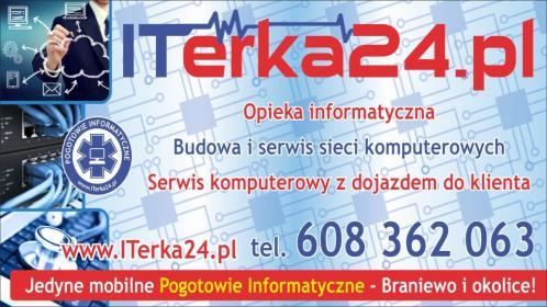 ITerka24 POGOTOWIE INFORMATYCZNE - Naprawa komputerów Braniewo
