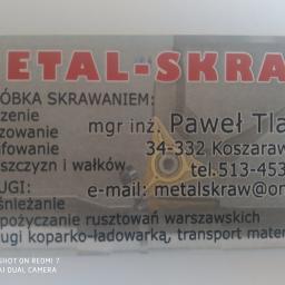 Metal-skraw - Odśnieżanie dróg i placów Koszarawa