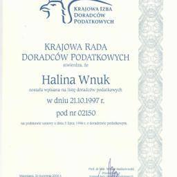 Biuro Rachunkowe Halszka Halina Wnuk - Doradztwo, pośrednictwo Łódź