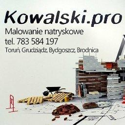 Kowalski.pro Malowanie natryskowe agregatem ścian mieszkań domów lokali Toruń Bydgoszcz Grudziądz - Malowanie Mieszkań Toruń