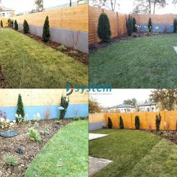 Kompleksowa realizacja ogrodu z zagospodarowaniem wody deszczowej.
