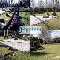 Montaż systemu automatycznego nawadnia w istniejącym trawniku.