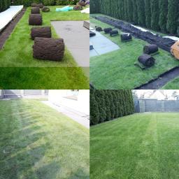 Ułożenie instalacji w istniejącym trawniku.
