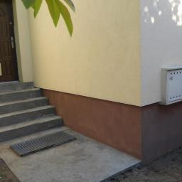 Wylane schody - przed montażem barierki oraz płyt kamiennych