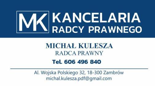 Kancelaria Radcy Prawnego Michał Kulesza - Usługi Prawne Zambrów