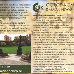 Ogród kompleks Damian Nowakowski - Agencje Eventowe Iwanowice Włościańskie