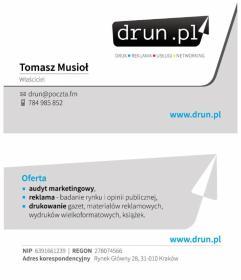 drun.pl Tomasz MUSIOŁ - Doradztwo marketingowe Kraków
