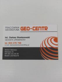 """PRACOWNIA GEODEZYJNA """"GEO-CENTR"""" D. Staniszewski - Usługi Geodezyjne Wiśniewo"""