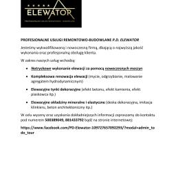 P.D. ELEWATOR - Tynkowanie elewacji Otwock