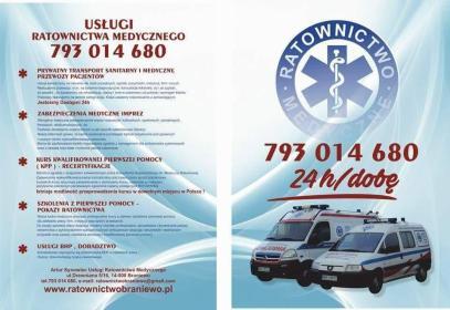 Artur Synowiec Usługi Ratownictwa Medycznego - Kurs pierwszej pomocy Braniewo