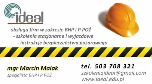 IDEAL Marcin Malak - Szkolenia BHP Głogów