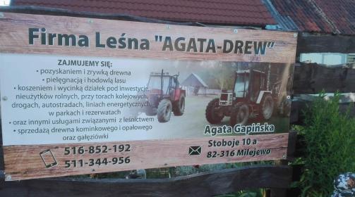 Firma Leśna AGATA-DREW Agata Gapińska - Ogrodnik Milejewo