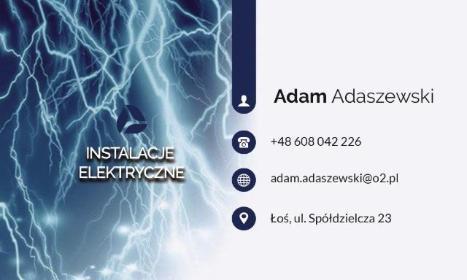 ARTPIX Studio reklamy Instalacje elektryczne Adam Adaszewski - Instalacje w Domu Złotokłos