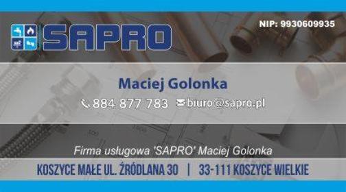 """Firma usługowa """"Sapro"""" - Energia Odnawialna Koszyce Wielkie"""