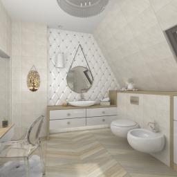 Nowoczesna łazienka w ciepłym klimacie.