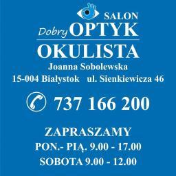 Dobry Optyk Joanna Sobolewska - Okulista Białystok
