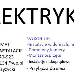 El - Mat Elektroinstalacje - Montaż oświetlenia Porąbka Iwkowska