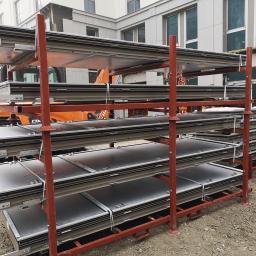 Paleta metalowa wysokiego składowania do transportu elewacji