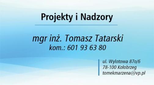 Projekty i Nadzory mgr inż. Tomasz Tatarski - Projekty Domów Kołobrzeg