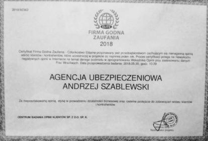 Agencja Ubezpieczeniowa PZU - Andrzej Szablewski - Ubezpieczenie firmy Rzeszów