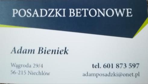 POSADZKI BETONOWE Adam Bieniek - Jastrych Cementowy Niechlów