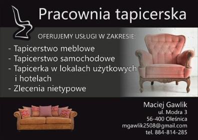 Maciej Gawlik - Tapicer Oleśnica