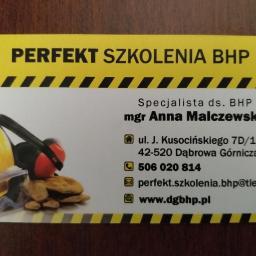 Perfekt Szkolenia BHP Anna Malczewska - Szkolenia BHP Dąbrowa Górnicza