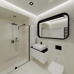 Projekt wnętrz - mieszkanie w Szczecinie - łazienka główna