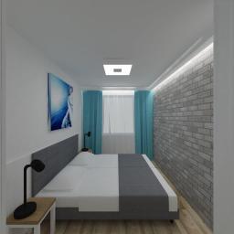 Projekt wnętrz - mieszkanie wakacyjne w Dziwnowie - sypialnia