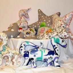 Poduszki przytulanki Minky & Bawełna